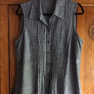 Van Heusen Large sleeveless denim tunic